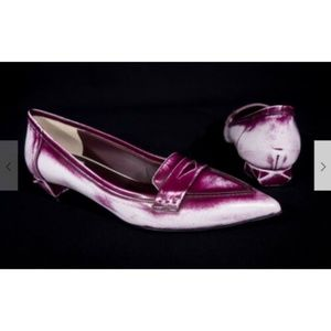 FENDI Pointed Toe Block Heels 38 8 Dark Magenta